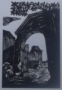 tisk z dřevorytu, printing from wood-cut